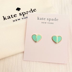 [NWT] Kate Spade - Heritage Spade Earrings (MINT)